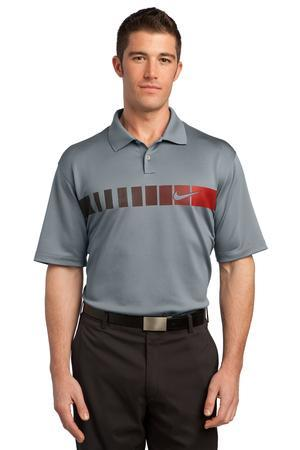 Nike Golf Dri FIT Chest Stripe Print Polo. 443211