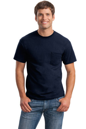 Gildan DryBlend  50 Cotton/50 DryBlend  Poly Pocket T Shirt. 8300