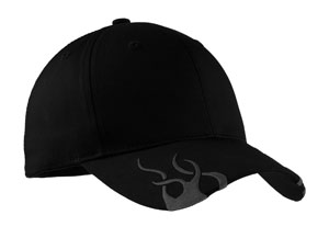 ; Port Authority; Racing Cap with Flames. C857
