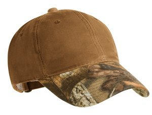 ; Port Authority; Pro Camouflage Series Cotton Waxed Cap with Camouflage Brim. C877