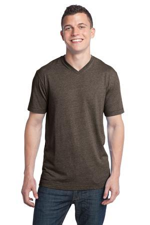 District; Young Mens Tri Blend V Neck Tee. DT142V