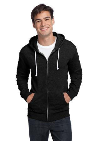 District; Young Mens Core Fleece Full Zip Hoodie. DT190