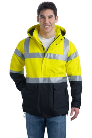 Port Authority; ANSI Class 3 Safety Heavyweight Parka. J799S