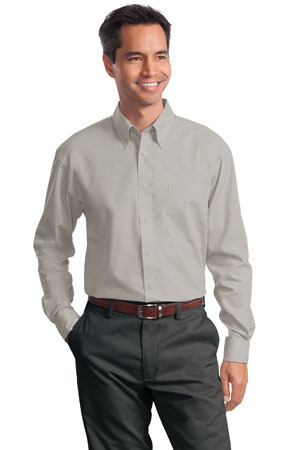 Port Authority; Long Sleeve Value Poplin Shirt. S632