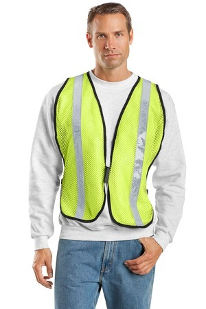 ; Port Authority; Mesh Safety Vest. SV02