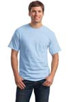 Hanes; Tagless; 100% Cotton T Shirt with Pocket. 5590