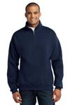JERZEES; 1/4 Zip Cadet Collar Sweatshirt. 995M