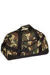 Port & Company; Military Camo Basic Large Duffel. BG98C