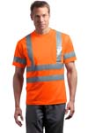 CornerStone; ANSI Class 3 Short Sleeve Snag Resistant Reflective T Shirt. CS408