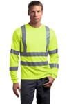 CornerStone; ANSI Class 3 Long Sleeve Snag Resistant Reflective T Shirt. CS409