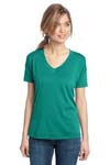 District Made ; Ladies Modal Blend Relaxed V Neck Tee. DM480