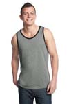 District; Young Mens Cotton Ringer Tank. DT1500