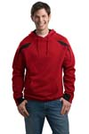 Sport Tek; Color Spliced Pullover Hooded Sweatshirt. F266