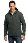 Port Authority; Textured Hooded Soft Shell Jacket. J706