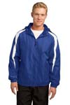 Sport Tek; Fleece Lined Colorblock Jacket. JST81