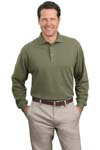 ; Port Authority; Long Sleeve Pique Knit Polo. K320