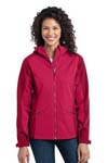 Port Authority; Ladies Gradient Hooded Soft Shell Jacket. L312