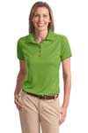 ; Port Authority; Ladies Poly Bamboo Charcoal Birdseye Jacquard Polo. L498