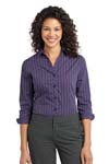 Port Authority; Ladies Vertical Stripe 3/4 Sleeve Easy Care Shirt. L643