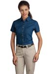 Port & Company; Ladies Short Sleeve Value Denim Shirt. LSP11