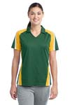 Sport Tek; Ladies Tricolor Micropique Sport Wick Polo. LST654