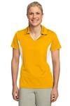 Sport Tek; Ladies Side Blocked Micropique Sport Wick Polo. LST655