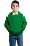 Sport Tek; Youth Pullover Hooded Sweatshirt with Contrast Color. Y264
