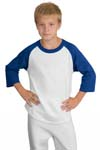 Sport Tek; Youth Colorblock Raglan Jersey. YT200