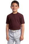 Sport Tek; Youth Short Sleeve Henley. YT210