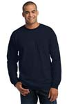 Gildan Ultra Cotton  100% Cotton Long Sleeve T Shirt with Pocket. 2410