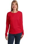 ; Hanes; Ladies ComfortSoft; Long Sleeve T Shirt. 5580