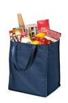 Port & Company; Extra Wide Polypropylene Grocery Tote. B160
