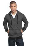 District Made ; Mens Mini Stripe Full Zip Hoodie. DM390