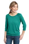 District Made ; Ladies Modal Blend 3/4 Sleeve Raglan. DM482