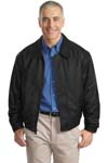 ; Port Authority; Leather Bomber Jacket. J780