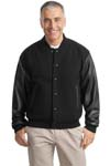 ; Port Authority; Wool and Leather Letterman Jacket. J783