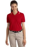 ; Port Authority; Ladies Cool Mesh Polo with Tipping Stripe Trim. L431