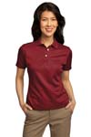 Port Authority; Ladies Shadow Stripe Interlock Polo. L459