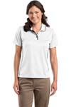 Sport Tek; Ladies Dri Mesh; Polo with Tipped Collar and Piping. L467