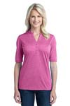Port Authority; Ladies Performance Cross Dye Henley. L509
