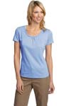 Port Authority ® Ladies Silk Touch Interlock Scoop Neck Shirt. L522