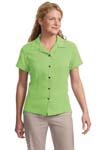 ; Port Authority; Ladies Silk Blend Camp Shirt. L533