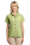 Port Authority; Ladies Patterned Easy Care Camp Shirt. L536