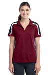 Sport Tek; Ladies Tricolor Shoulder Micropique Sport Wick Polo. LST658