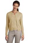 ; Port Authority; Ladies Fine Gauge Crewneck Cardigan Sweater. LSW280