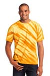 Port & Company; Essential Tiger Stripe Tie Dye Tee. PC148