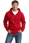 Port & Company; Classic Full Zip Hooded Sweatshirt. PC78ZH