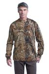 Russell Outdoors;  Realtree Long Sleeve Explorer 100% Cotton T Shirt with Pocket. S020R