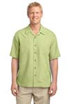Port Authority; Patterned Easy Care Camp Shirt. S536