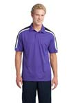 NEW Sport Tek; Tricolor Shoulder Micropique Sport Wick Polo. ST658